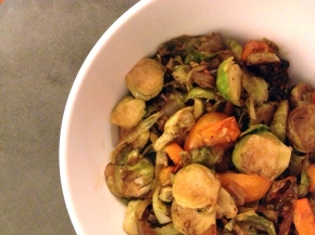 Brussels Sprout and Cherry Tomato Hash