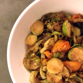 Brussels Sprout and Cherry TomatoHash