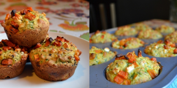 Butternut Squash Feta Muffins