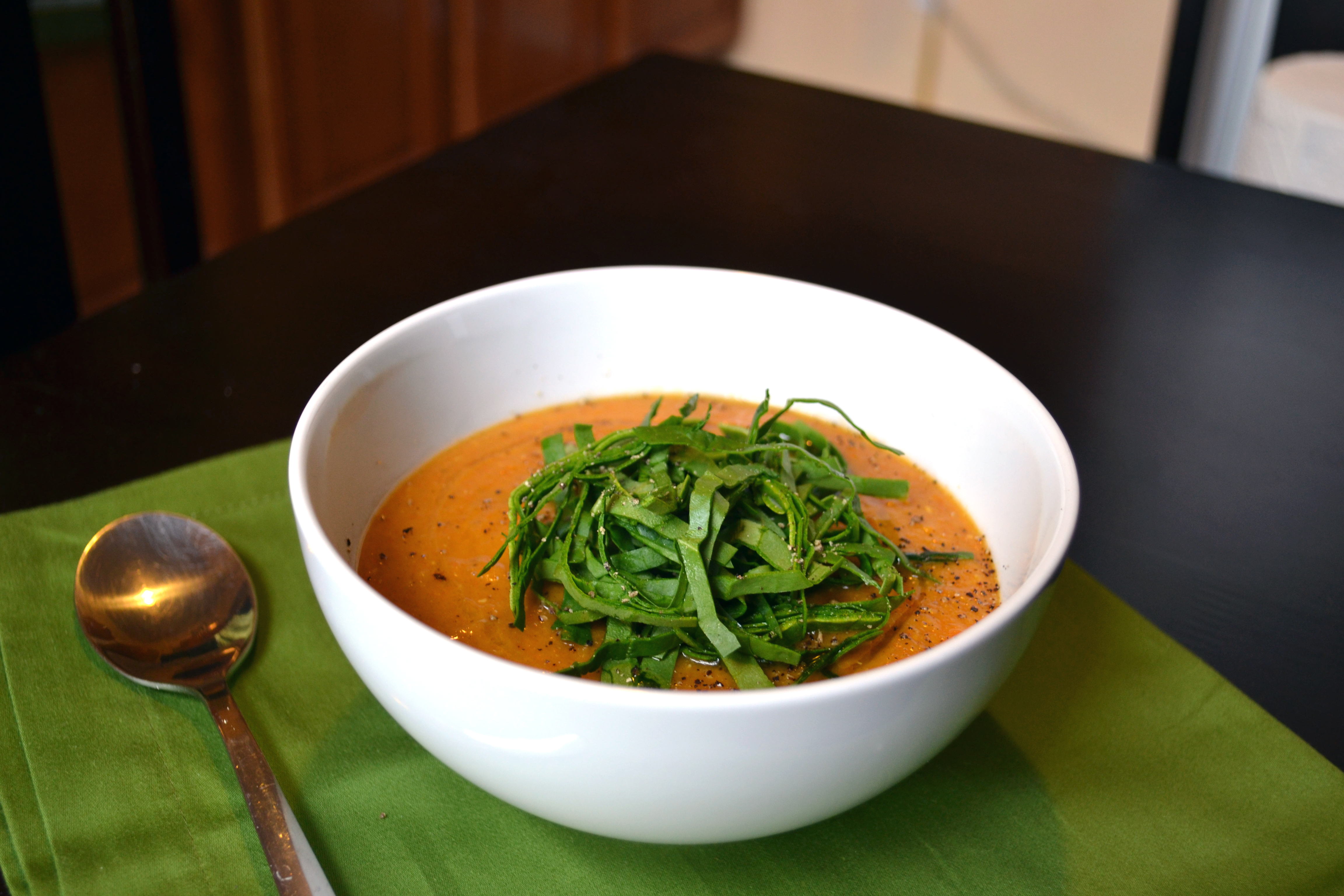Sunday Soup // Red Lentil Coconut-Curry with Spinach | Season Simply