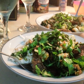 Beef Stir Fry with Tatsoi, Blue Aprons, andFriends