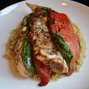 Roasted Red Pepper, Chicken, and Spinach (Easy)Bake