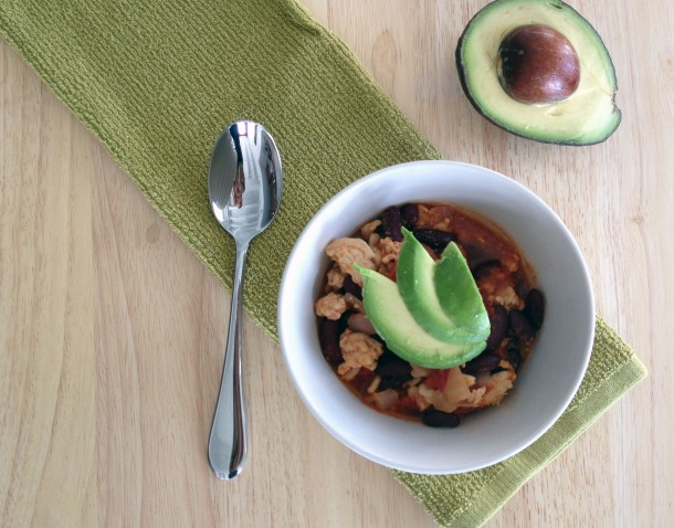 Chipotle Chicken Chili with Avocado
