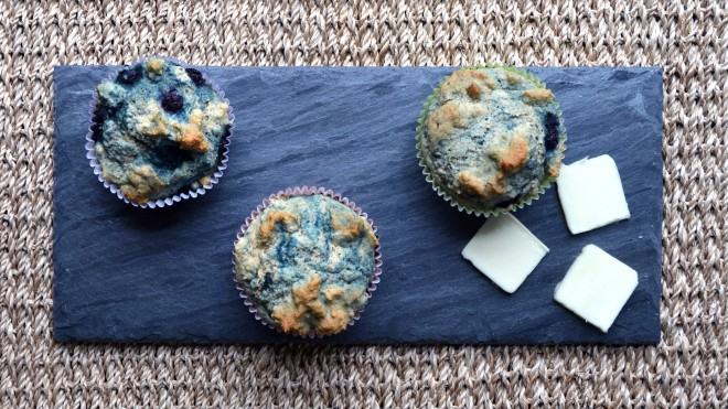 Blueberry-Flax Greek Yogurt Muffins