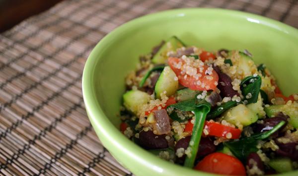 Warm Quinoa and Veggie Salad