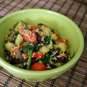 Easy Warm Quinoa and Veggie Salad