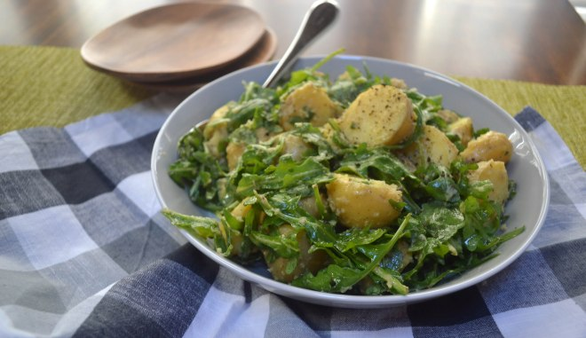 Warm Potato Salad with Arugula